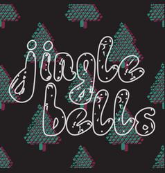 Jingle bells handwritten calligraphy vector