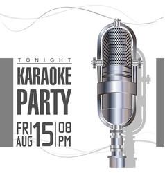karaoke party poster 2 vector image