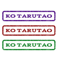 Ko tarutao watermark stamp vector
