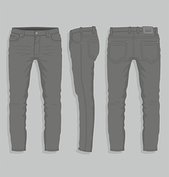 Men jeans vector image