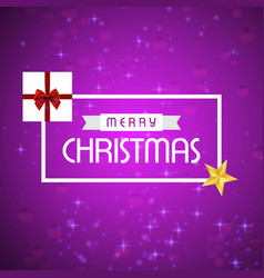 merry christmas creative design with pink vector image