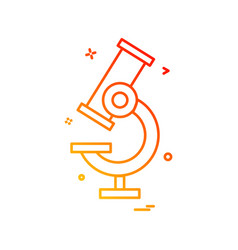microscope icon design vector image