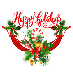 New year holiday greeting vector