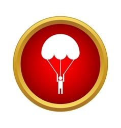 Parachutist icon in simple style vector image