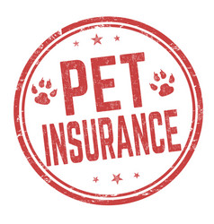 Pet insurance sign or stamp vector
