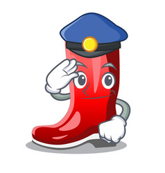 Police rubber boots in a agricultural cartoon vector