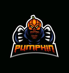 Pumpkin mascot logo design vector