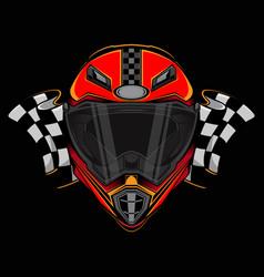 racing helmet icon logo vector image