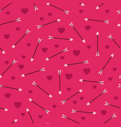 romantic pattern with arrows vector image