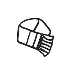 Scarf sketch icon vector