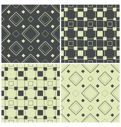 Seamless patterns with squares vector