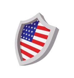 Security shield with american flag color icon vector