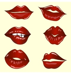 set of lips vector image