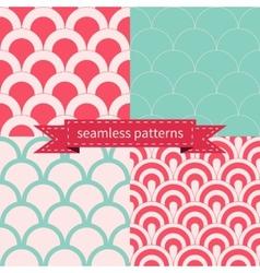 set seamless geometric patterns vector image