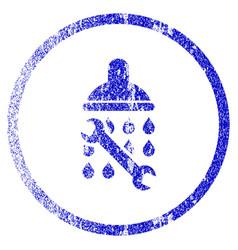 Shower plumbing grunge textured icon vector