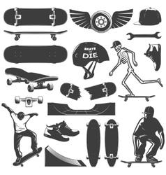 Skateboarding Icon Set vector image