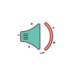 speaker icon design vector image