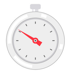 Stopwatch flat style vector