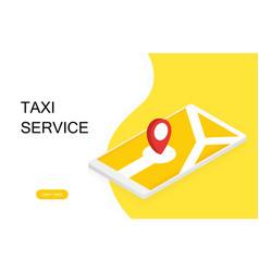 taxi banner onlin order taxi service vector image