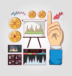 Trading of cryptocurrency design vector