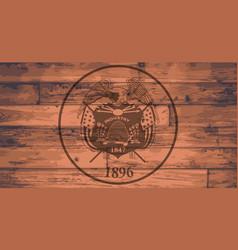 utah state flag brand vector image