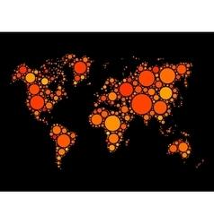 World map mosaic made of dots vector