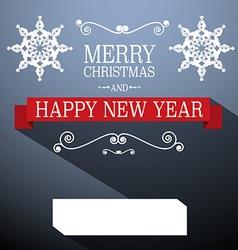 Christmas Card Retro Decoration vector image vector image