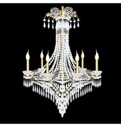 Modern chandelier with crystal pendants vector