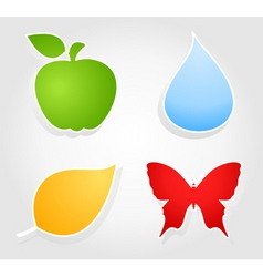 nature icon vector image vector image