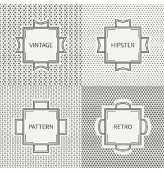 Set of hand drawn line ink geometric seamless vector image vector image