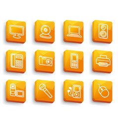 equipment buttons vector image