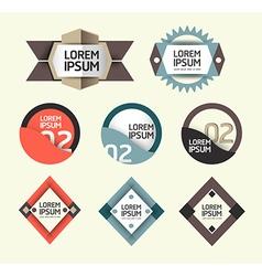 Modern Design Labels vector image