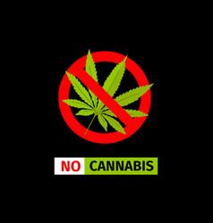 no cannabis sign vector image