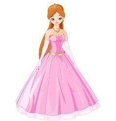 Fairytale princess vector image