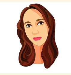 girl with brown hair vector image