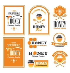Honey labels vector image