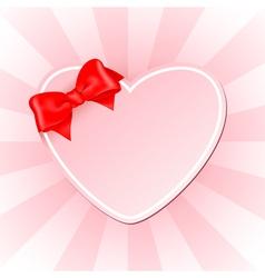 Pink heart vector image