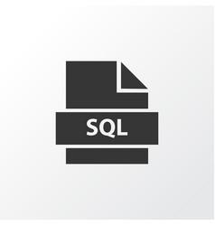 sql icon symbol premium quality isolated database vector image