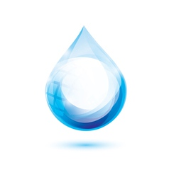 water drop isolated symbol abstract icon vector image
