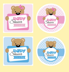 baby shower labels vector image
