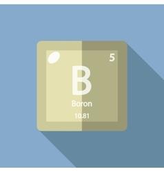 Chemical element Boron Flat vector image vector image