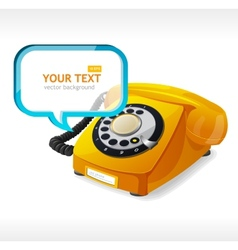 Old Phone as text box vector image