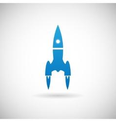 Rocket Space Ship launch Symbol Icon Design vector image