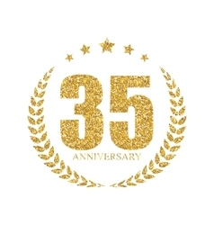 Template Logo 35 Years Anniversary vector image vector image