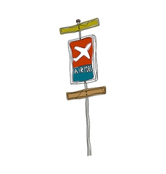 A sign post stand on vector
