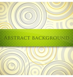 Abstract background with circles and green label vector