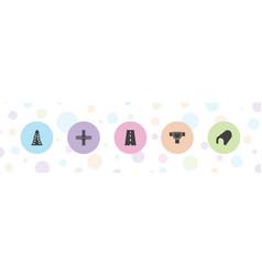 Asphalt icons vector