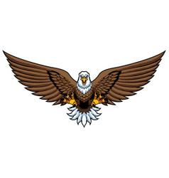 Bald eagle attack mascot vector