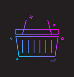 basket icon design vector image
