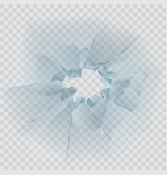 broken window glass vector image